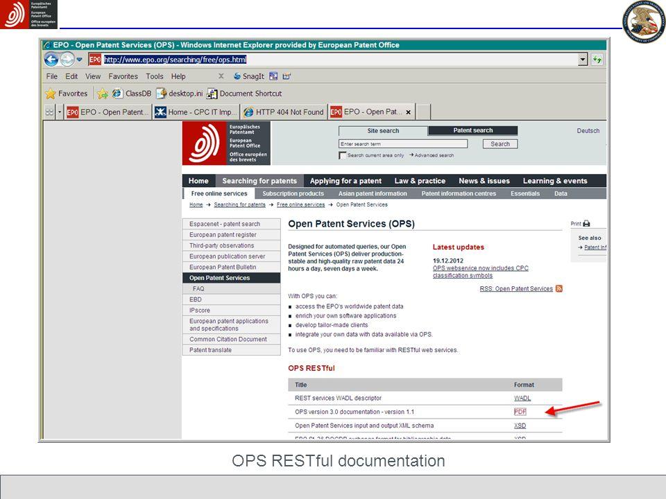 OPS RESTful documentation