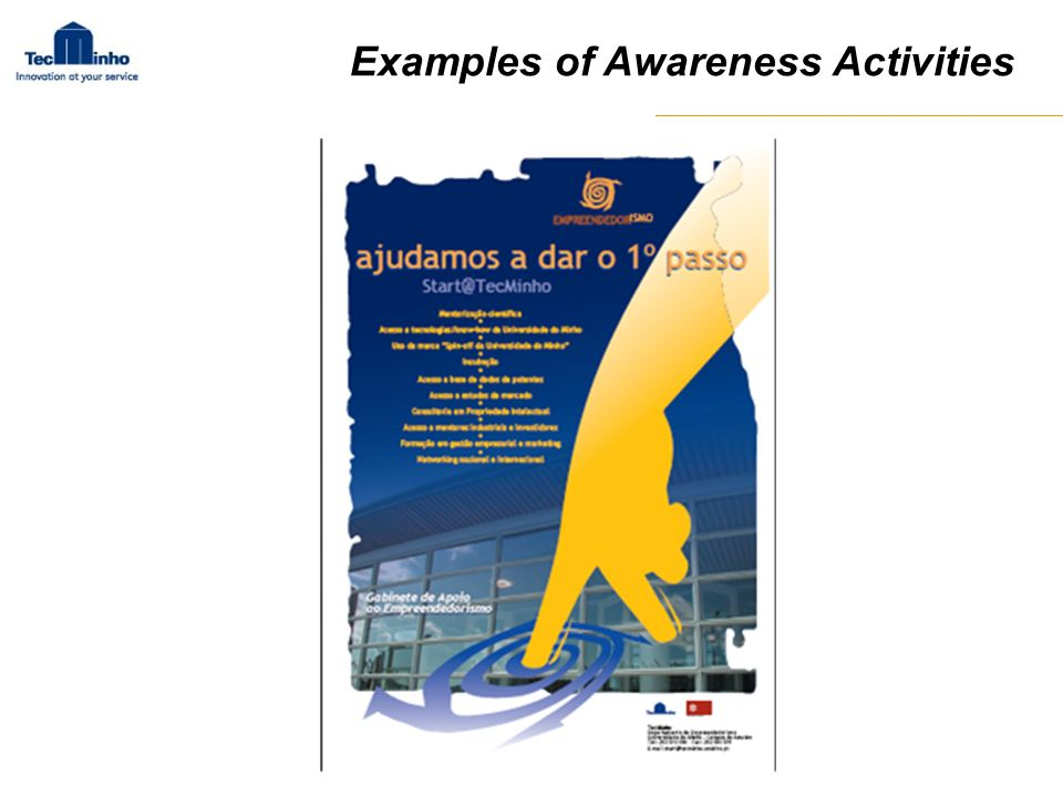 Examples of Awareness Activities