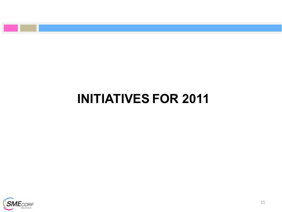 INITIATIVES FOR 2011 15