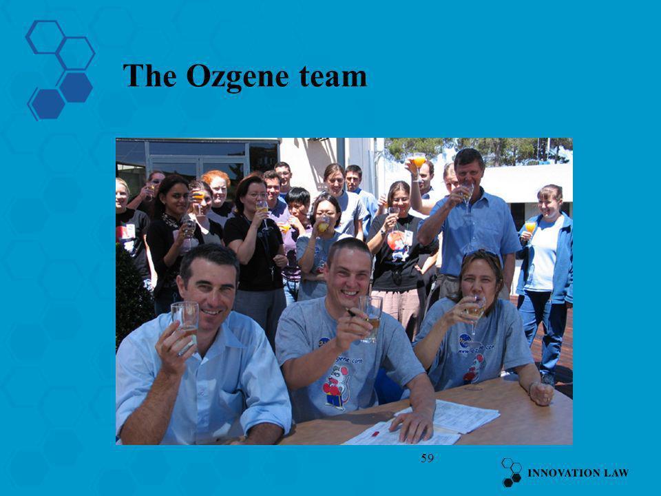 59 The Ozgene team
