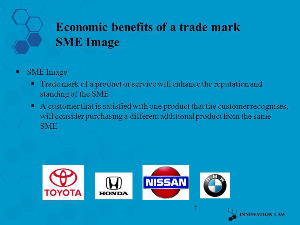 8 Economic benefits of a trade mark SME Goodwill What is goodwill .