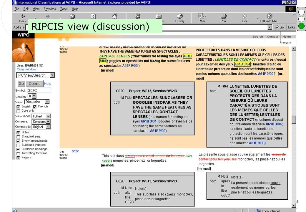 P.Fiévet February 13, 2006 RIPCIS screen shot RIPCIS view (discussion)