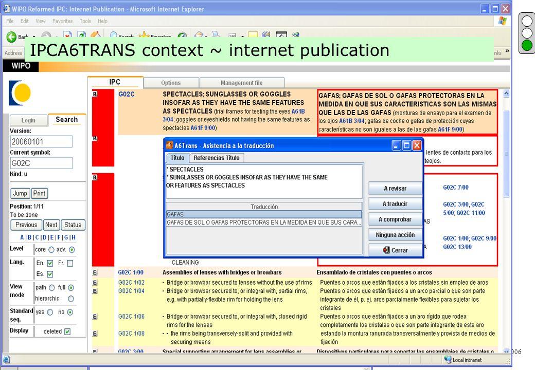 P.Fiévet February 13, 2006 IPCA6TRANS screen shot IPCA6TRANS context ~ internet publication