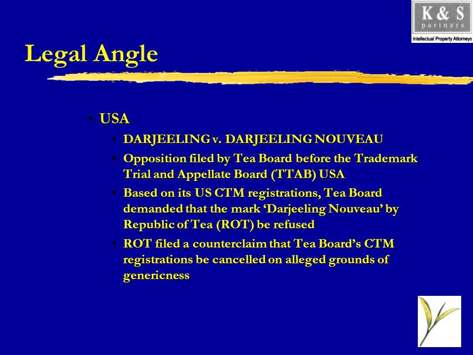 Legal Angle USAUSA DARJEELING v. DARJEELING NOUVEAUDARJEELING v.