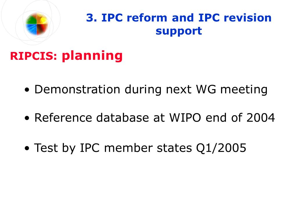 Demonstration during next WG meeting 3.