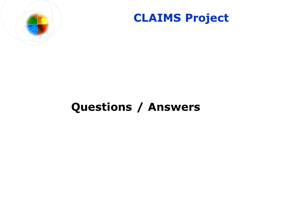 CLAIMS Project Questions / Answers