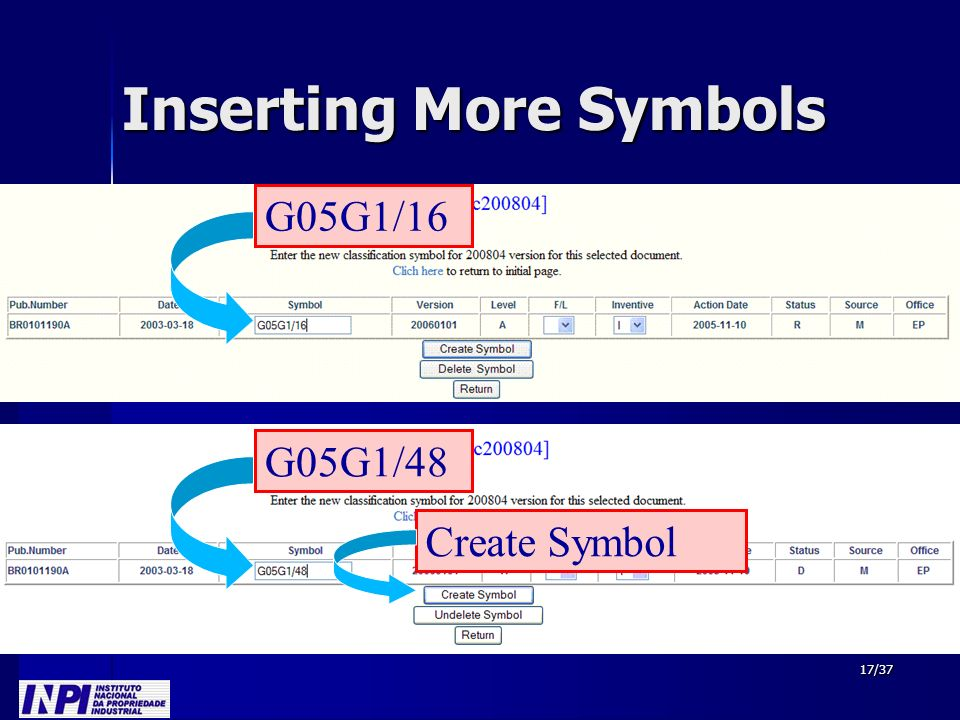 17/37 Inserting More Symbols G05G1/16 G05G1/48 Create Symbol