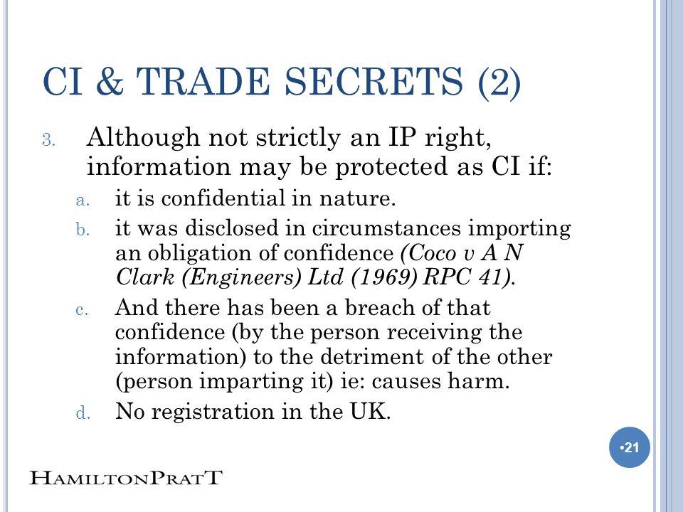 CI & TRADE SECRETS (2) 3.