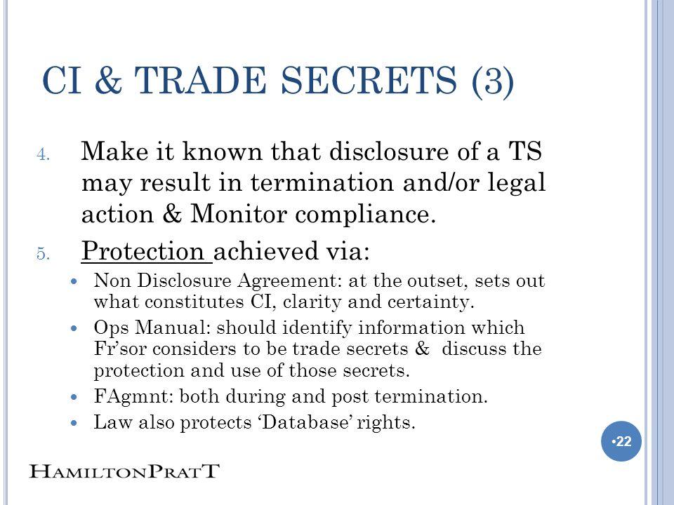 CI & TRADE SECRETS (3) 4.