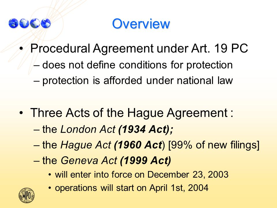 Overview Procedural Agreement under Art.
