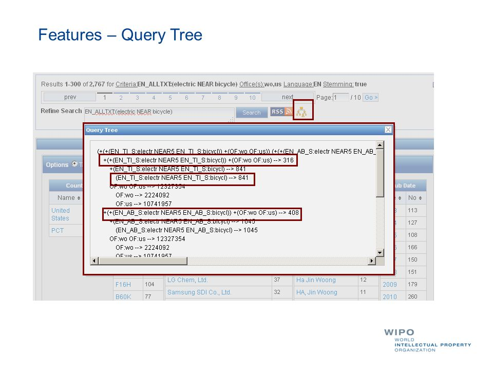 Features – Query Tree