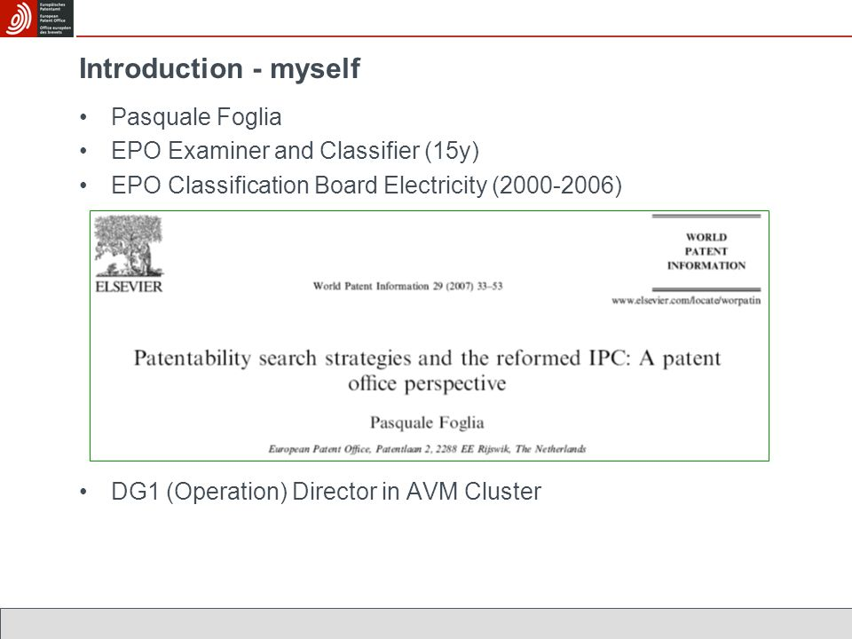 EPO Search (5) : Classification is not used......