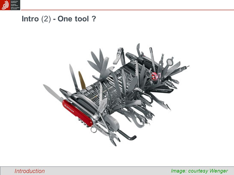 Intro (2) - One tool Introduction Image: courtesy Wenger