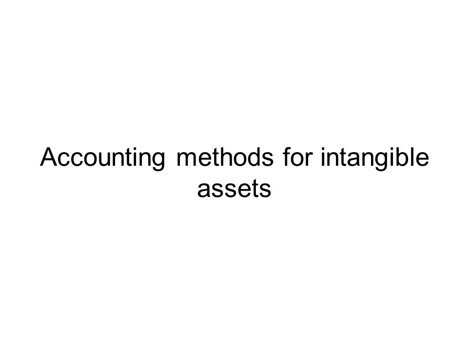 Accounting methods for intangible assets