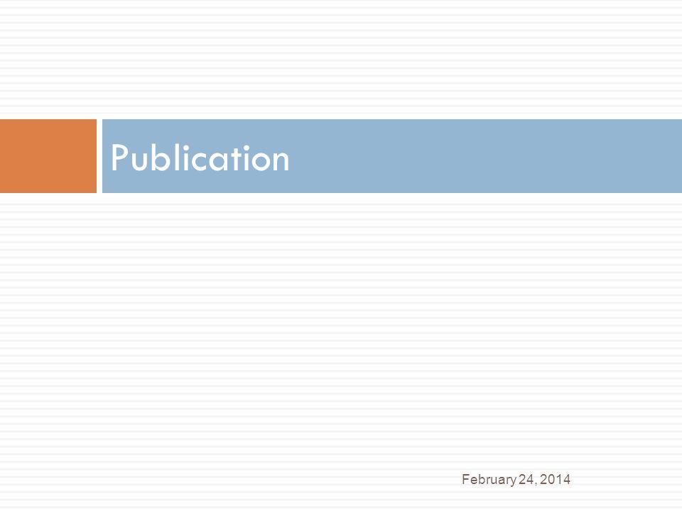 Publication February 24, 2014