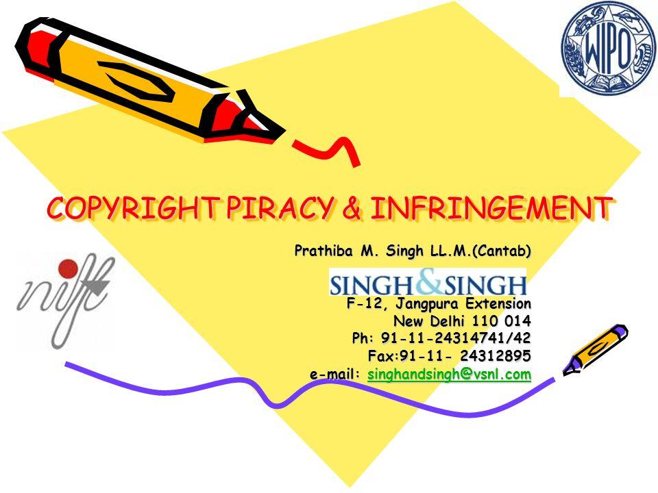 INFRINGEMENT OF COPYRIGHT What constitutes infringement.