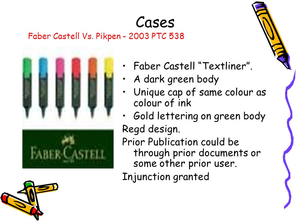 Faber Castell Textliner. A dark green body Unique cap of same colour as colour of ink Gold lettering on green body Regd design. Prior Publication coul