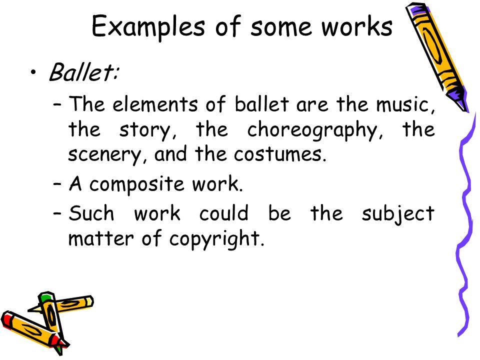 Adaptations of various works STORY OPERA/BALLET MUSICAL VERSION COMPILATION Each of the above works, once created have a separate, new copyright, protectable as original works.