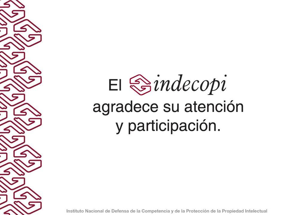 El INDECOPI agradece su atención y participación.