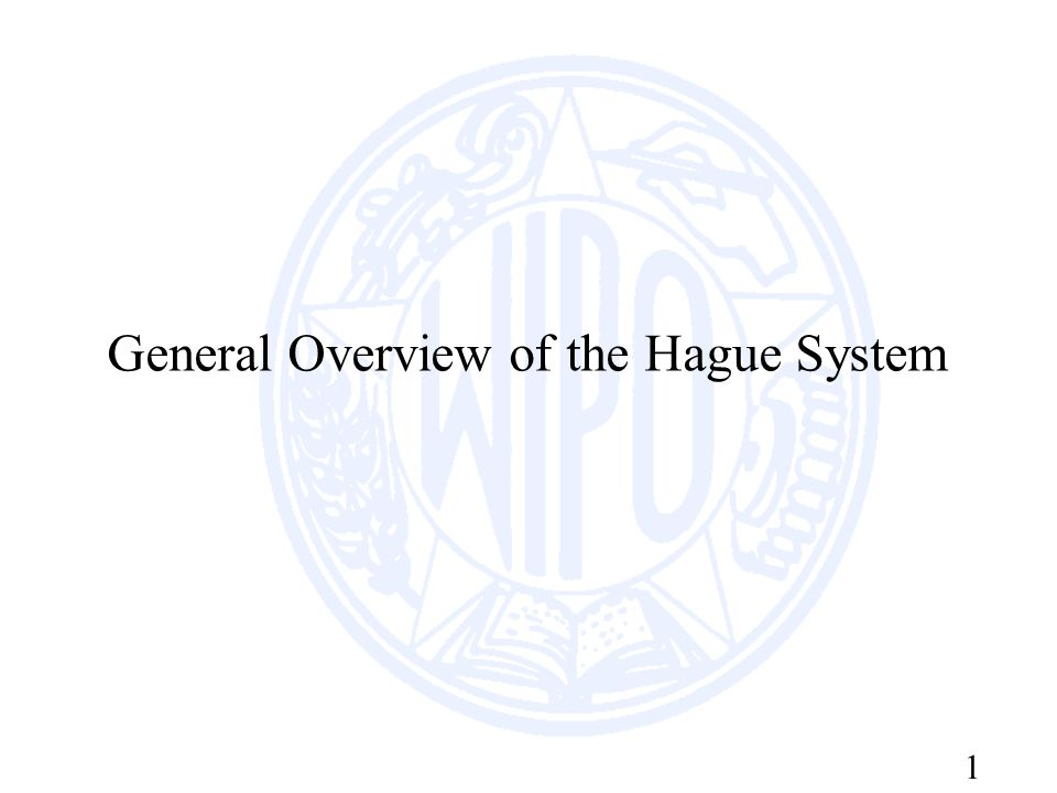 1 General Overview of the Hague System