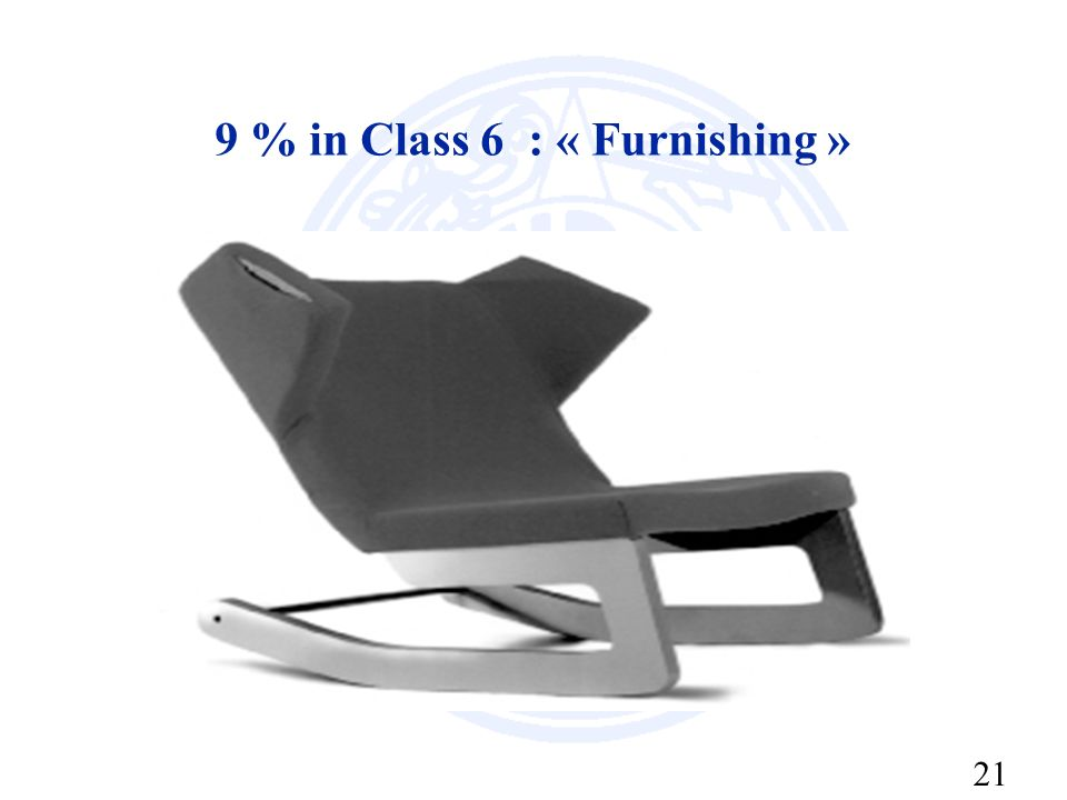 21 9 % in Class 6 : « Furnishing »
