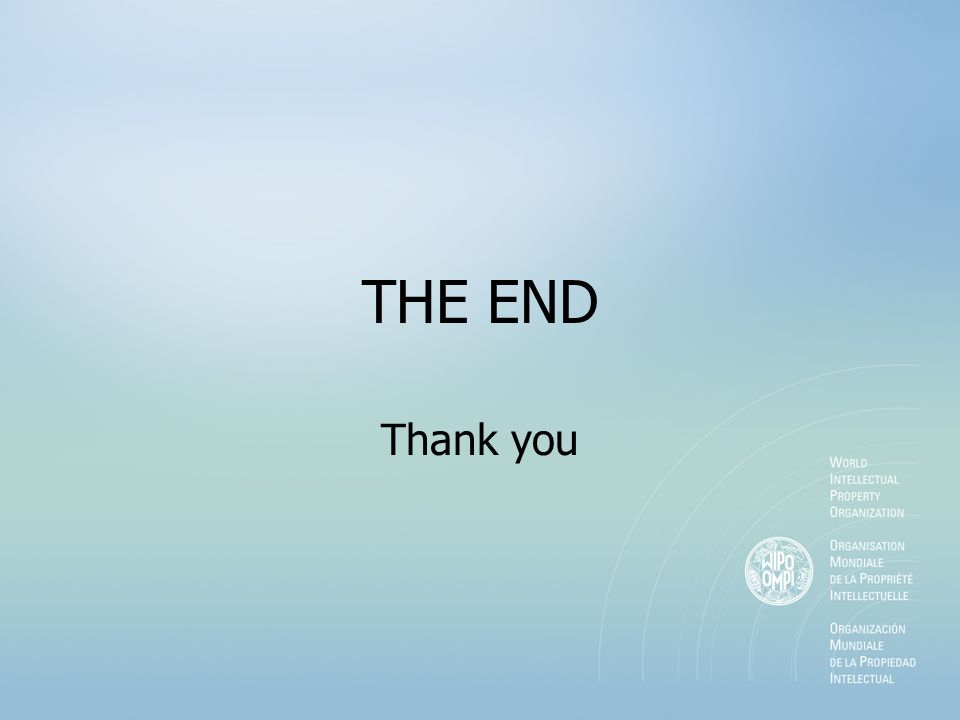 THE END Thank you