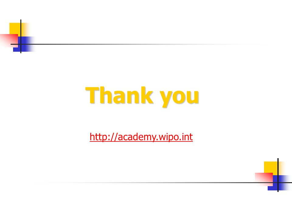 Thank you http://academy.wipo.int