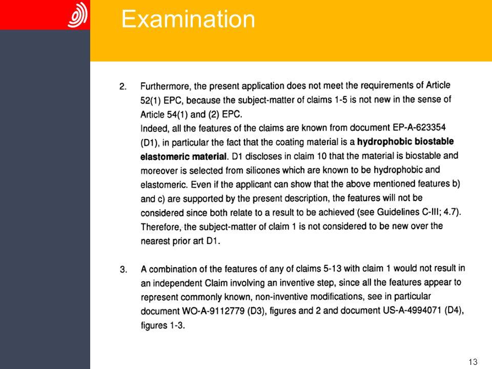 13 Examination