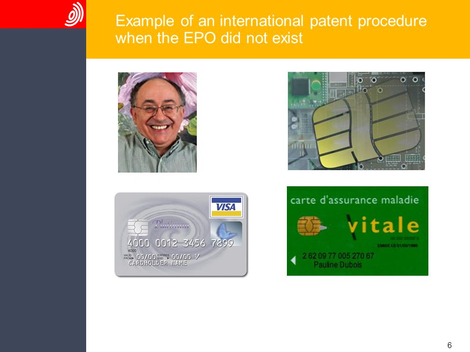 6 Example of an international patent procedure when the EPO did not exist