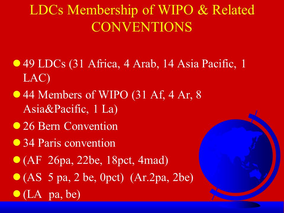 South America and the Caribbean lThe only country in the list of the original LDCs from South America and the Caribbean was l1971-Haiti =1
