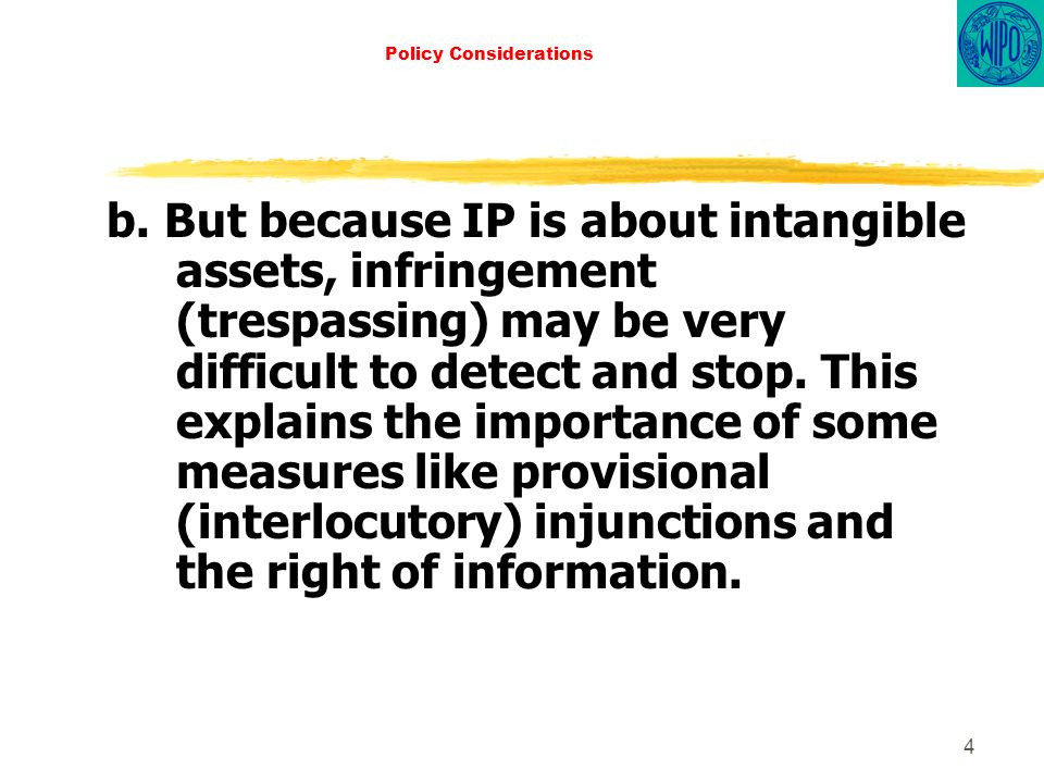 4 Policy Considerations b.