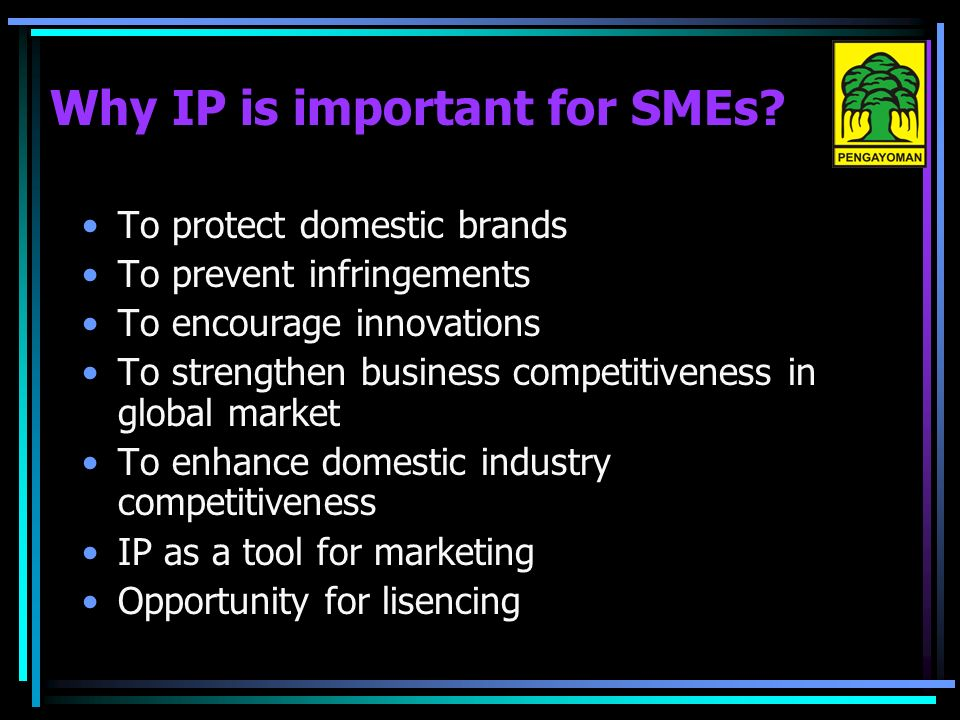 Why IP is important for SMEs.
