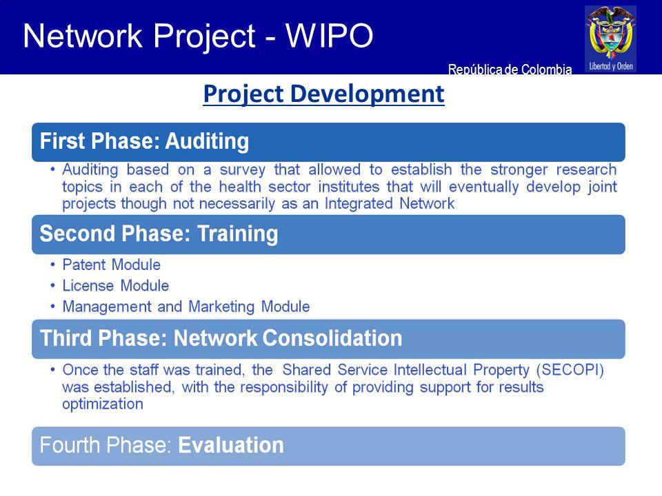 Ministerio de Relaciones Exteriores República de Colombia Project Development Network Project - WIPO