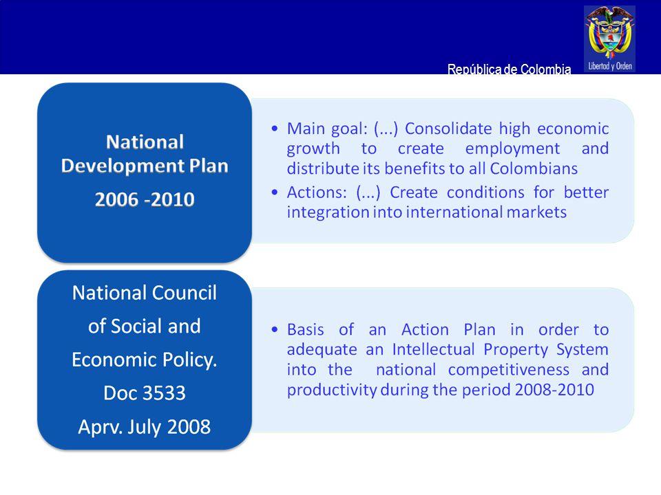 Ministerio de Relaciones Exteriores República de Colombia Research and Development and Intellectual Property Network: I.P Networks Actual Networks