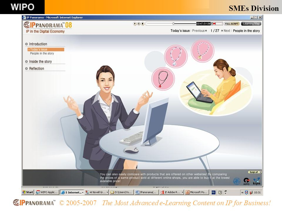 SMEs Division © 2005-2007 The Most Advanced e-Learning Content on IP for Business!