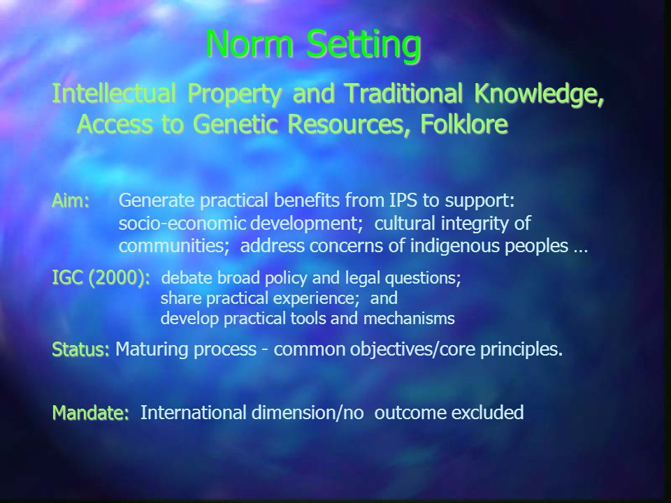 The World Intellectual Property Organization http://www.wipo.int cathy.jewell@wipo.int Thank you
