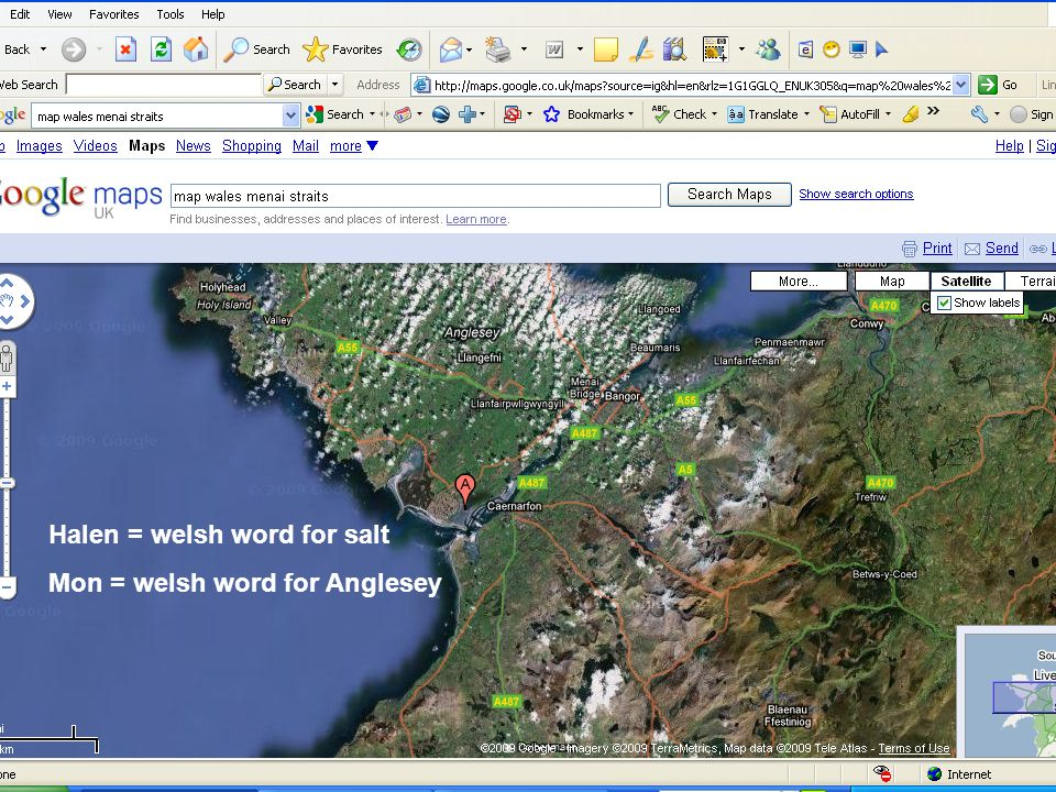 CASE STUDY Halen = welsh word for salt Mon = welsh word for Anglesey
