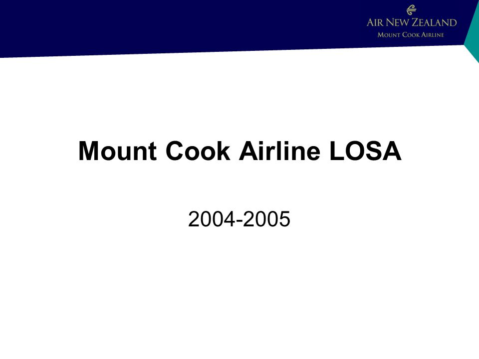 Mount Cook Airline LOSA 2004-2005