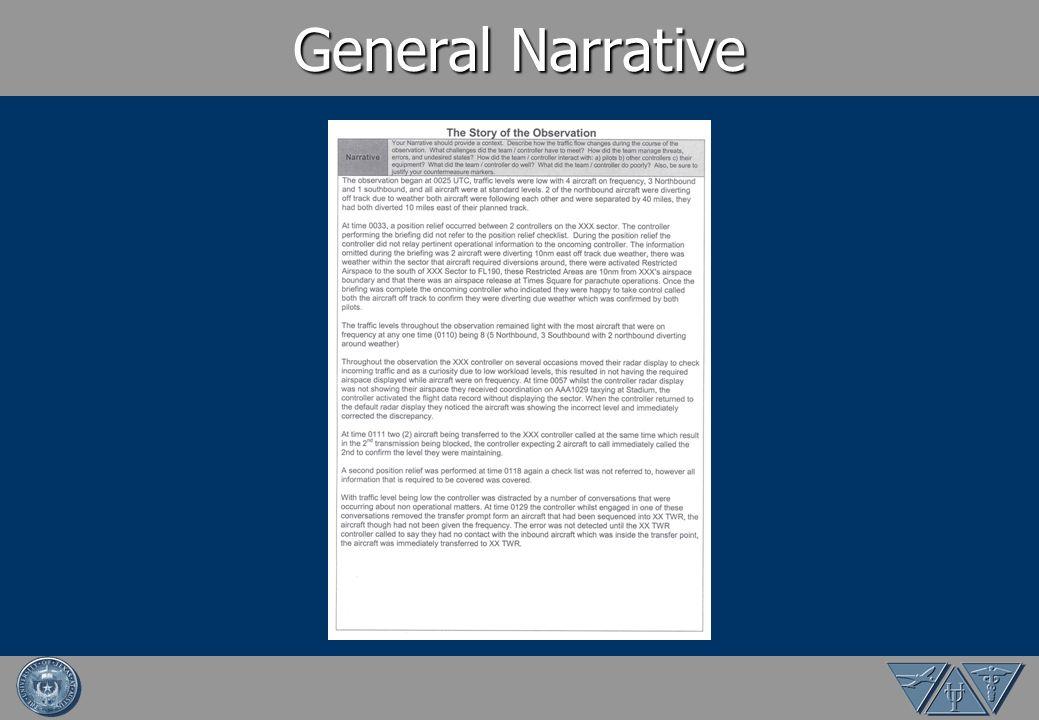 General Narrative