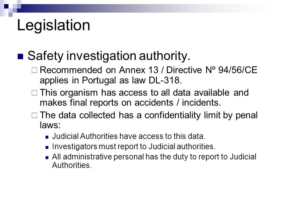 Legislation Safety investigation authority.
