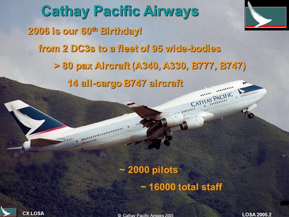 CX LOSA © Cathay Pacific Airways 2005 LOSA 2005.2 Cathay Pacific Airways Cathay Pacific Airways 2006 is our 60 th Birthday.
