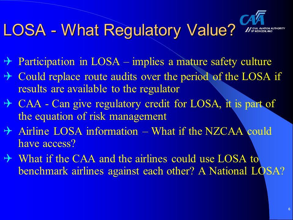 6 LOSA - What Regulatory Value.