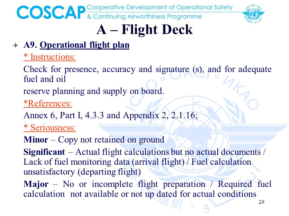 29 A – Flight Deck A9.