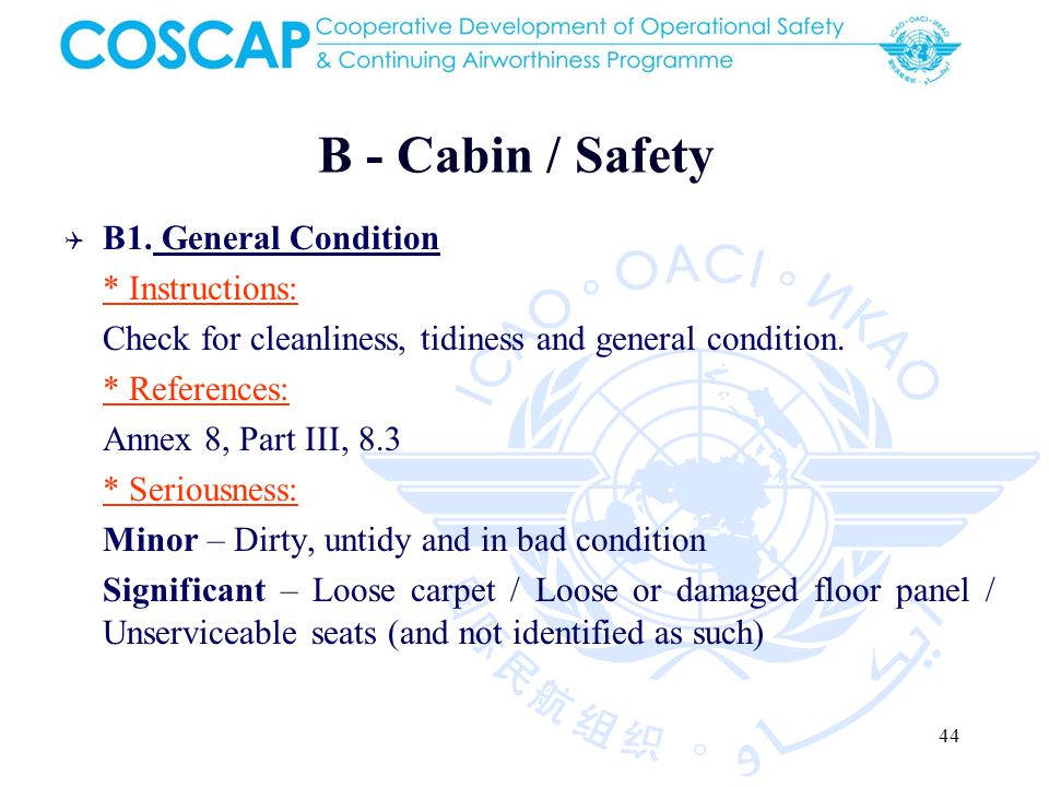 44 B - Cabin / Safety B1.