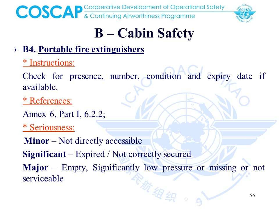 55 B – Cabin Safety B4.