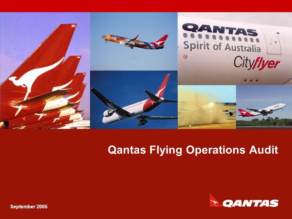 Capt Ken Ireland GM Flying Operations Audit Qantas Flying Operations Audit 2 LOSA was carried out: May - July 2002 Across 29 Qantas domestic and international ports 263 sectors B737, B767, B744 LOSA Overview