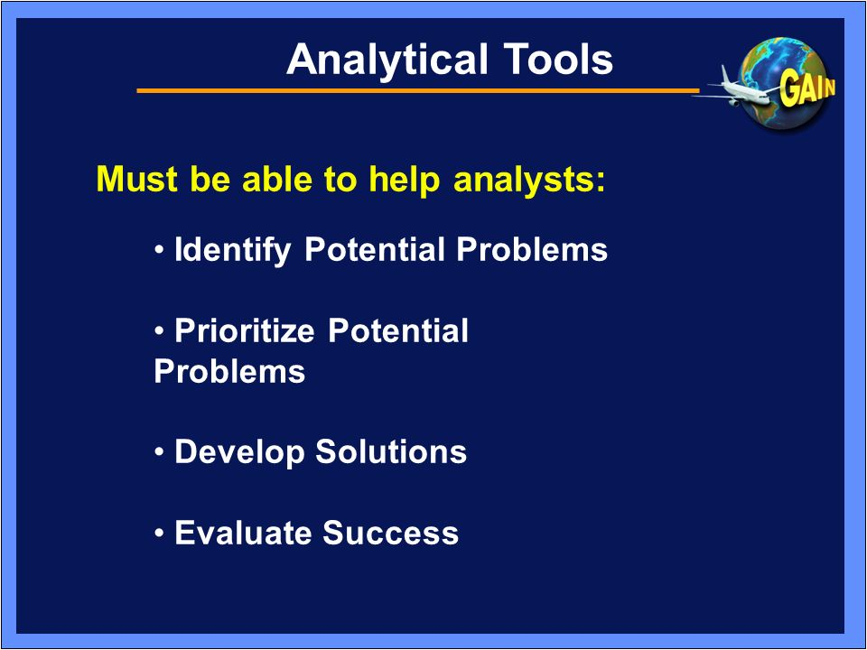 Challenges Legal Issues Improved Analytical Tools As we begin to get over the first hurdle, we must start working on the second.