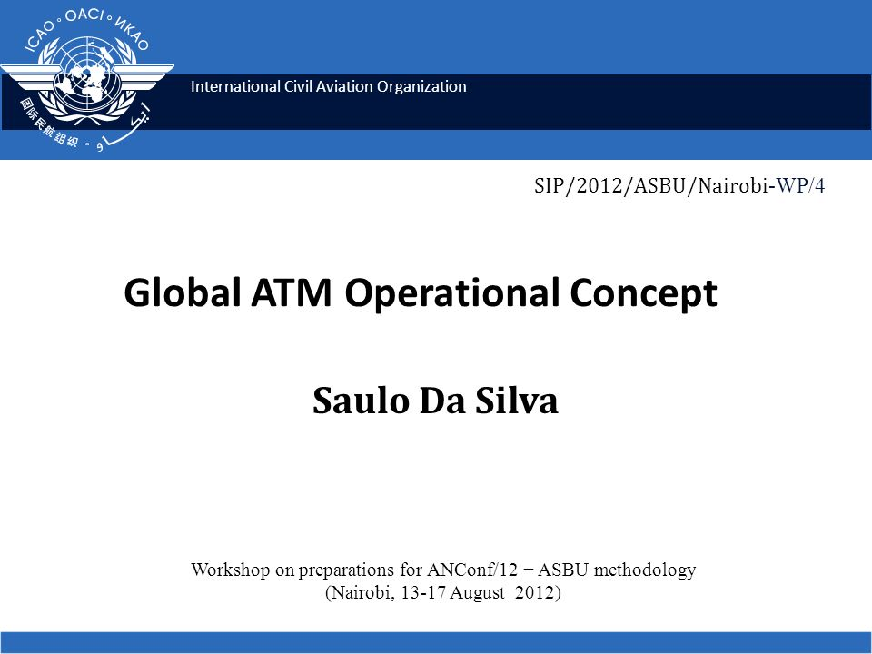 Transition Technology is not an end in itself Based on clearly-established operational requirements Integrated system 12 ICAO SIP 2012 - ASBU workshops
