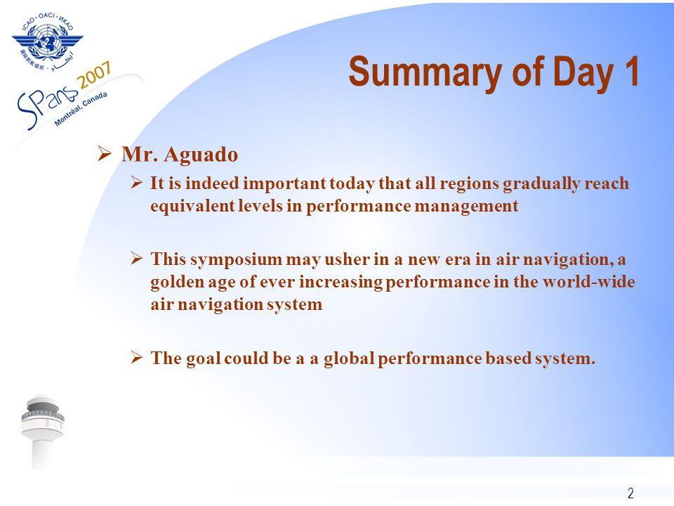 2 Summary of Day 1 Mr.