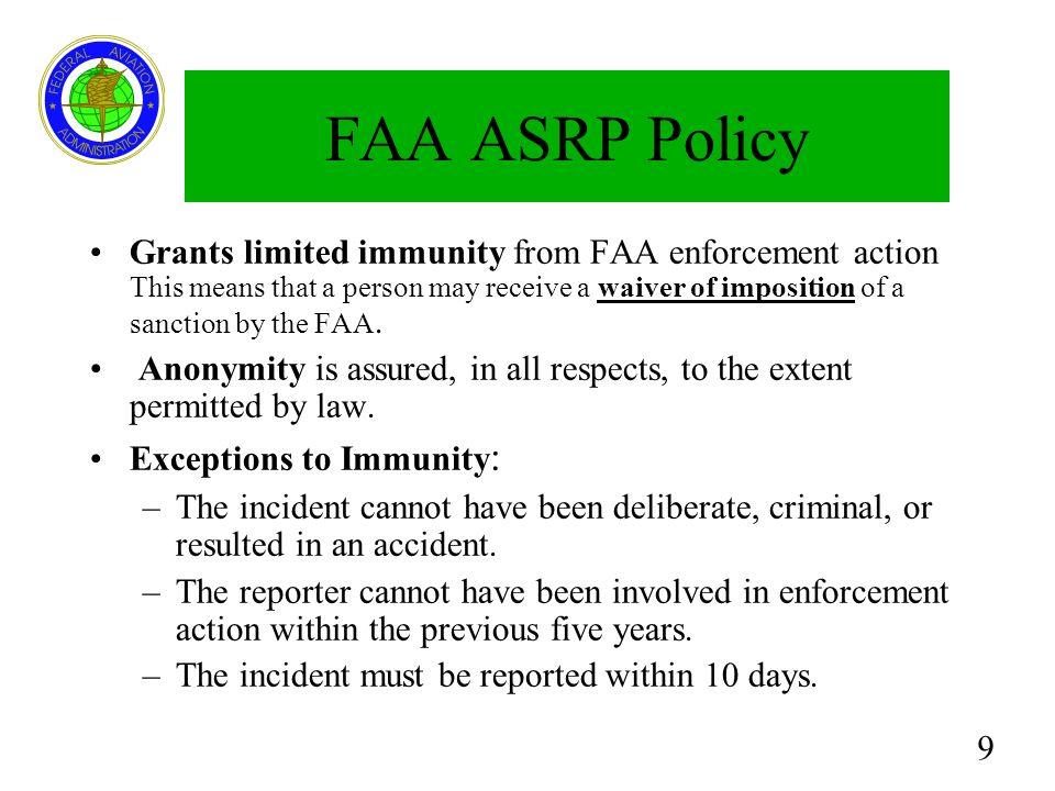 20 Response to Alerts FAA: –Aids the FAA in mitigating risks, hazards, or deficiencies.